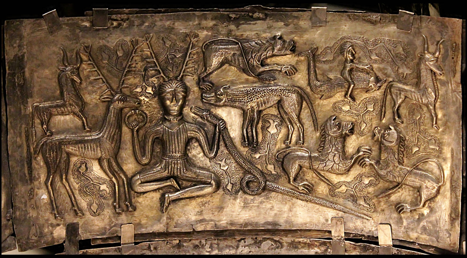 Horned god depicted on Gundestrup Cauldron