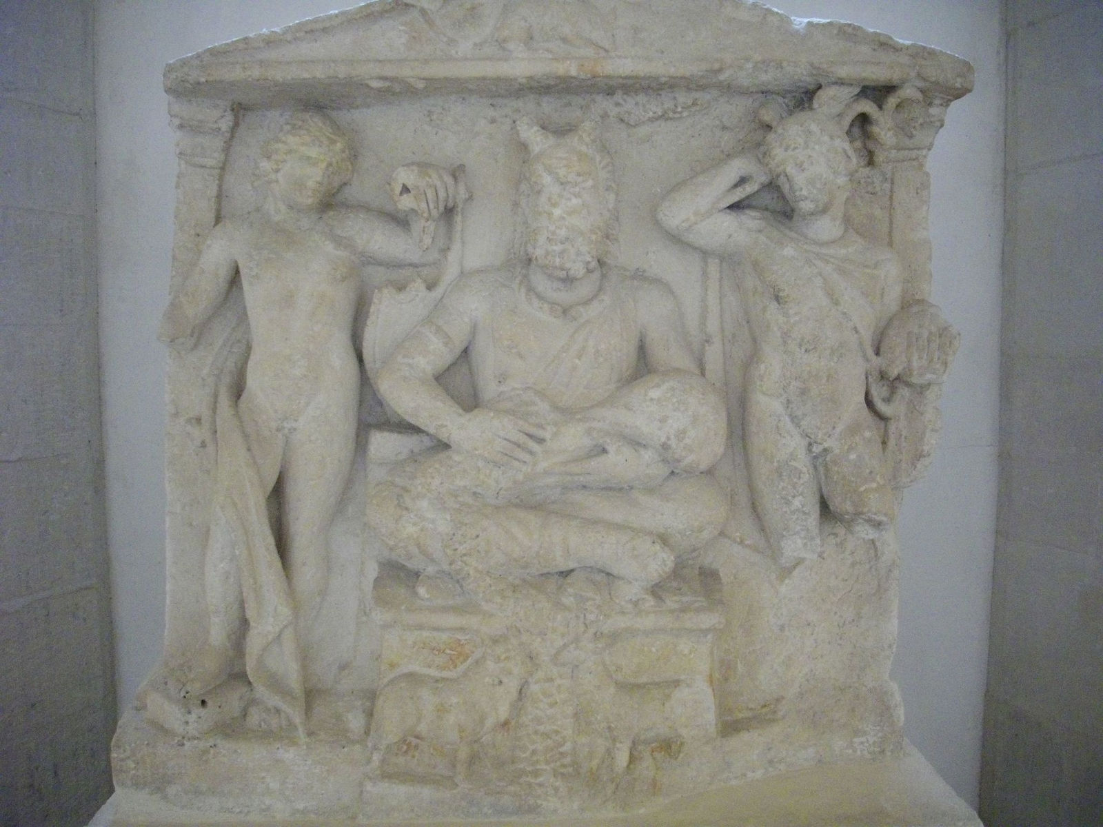 relief of horned god in Reims, France