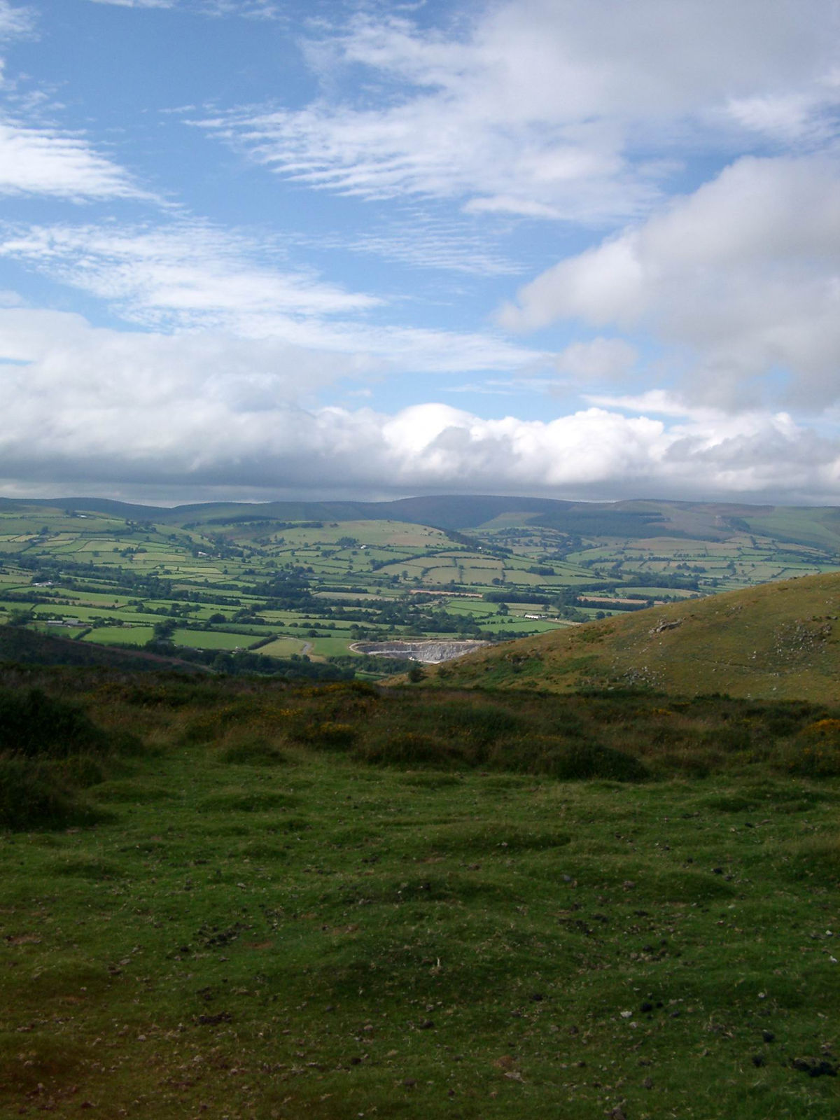 the view from hergest Ridge