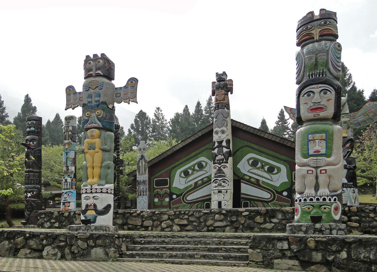 totem poles in Aboriginal Cultural Village, Formosa